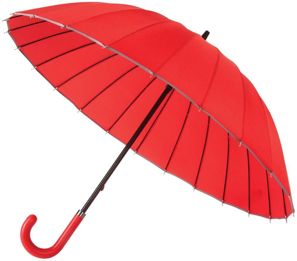Зонт Ella, красный с серым