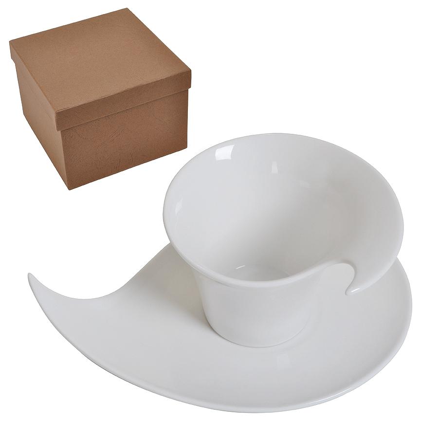 Чайная/кофейная пара 'Наваждение' в подарочной упаковке, 18,5х14х10,5см, 150 мл, фарфор