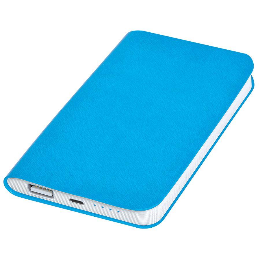 Универсальное зарядное устройство 'Softi' (4000mAh),голубой, 7,5х12,1х1,1см, искусственная кожа,пл