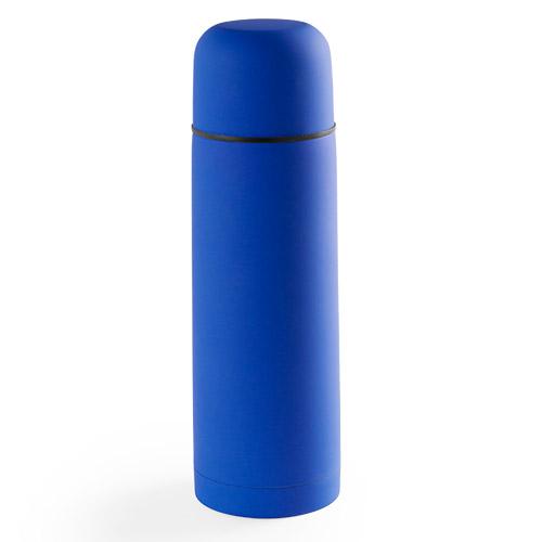 Термос вакуумный 'Flask',сталь с покрытием софт тач, синий, 500 мл.