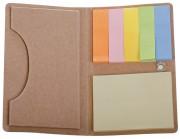 Футляр для визитки Eco holder с клейкими листочками, бурый