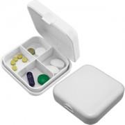 Таблетница 'Будь здоров!'; белый; 6,5х6,5х2,2 см; пластик; тампопечать