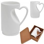 Кружка 'Сердце' в подарочной упаковке, D=7,5см,H=12,5см,300мл,фарфор