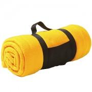 Плед 'Сolor'; желтый; 130х150 см; флис 220 гр/м2; шелкография, вышивка