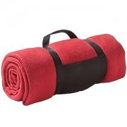 Плед 'Сolor'; красный; 130х150 см; флис 220 гр/м2; шелкография, вышивка