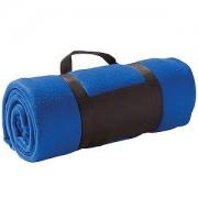 Плед 'Сolor'; синий; 130х150 см; флис 220 гр/м2; шелкография, вышивка