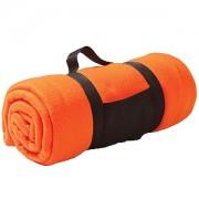 Плед 'Сolor'; оранжевый; 130х150 см; флис 220 гр/м2; шелкография, вышивка