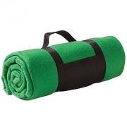 Плед 'Сolor'; зеленый; 130х150 см; флис 220 гр/м2; шелкография, вышивка