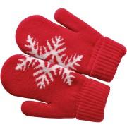 Варежки 'Сложи снежинку!',  красный, М, акрил/флис внутри,  шеврон