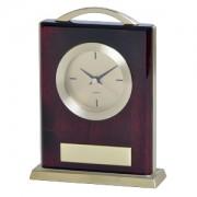 Часы настольные 'МИНИСТР' ; 14,9х4,8х19,6 см; металл, дерево; шильд, лазерная гравировка