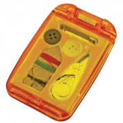Набор швейный с зеркалом; оранжевый; 7,5х4,9х1 см; пластик; тампопечать