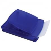 Диспенсер для записей; синий; 12х8,3х5,5 см; пластик; тампопечать