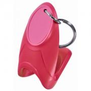 Открывалка 'Quick up'; красный; 6х3х4 см; пластик; тампопечать