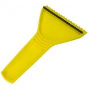 Скребок автомобильный с ручкой; желтый; 11х17,5 см; пластик; тампопечать, шелкография