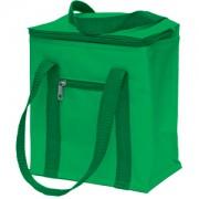 Сумка-холодильник, 5,7 л; зеленый; 20,7х11,8х23,5 см (5,7 л); полиэстер; шелкография
