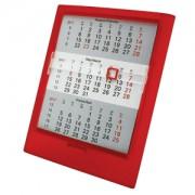 Календарь настольный на 2 года; прозрачно-красный; 12,5х16 см; пластик; тампопечать, шелкография
