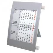 Календарь настольный на 2 года; серый с белым ; 18х11 см; пластик; шелкография, тампопечать