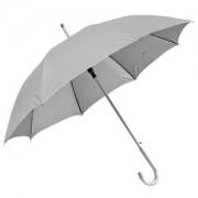 Зонт-трость с пластиковой ручкой 'под алюминий' 'Silver', полуавтомат; серый; D=103 см;