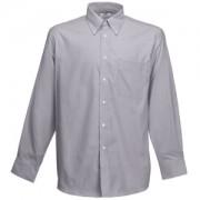 Рубашка 'Long Sleeve Oxford Shirt', светло-серый_XL, 70% х/б, 30% п/э, 135 г/м2