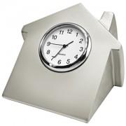Часы 'Домик'; 7х6,6х5,2 см; металл; лазерная гравировка