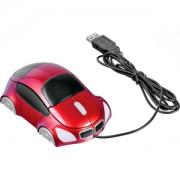 Мышь компьютерная оптическая 'Автомобиль'; красный; 10,4х6,4х3,7см; пластик; тампопечать