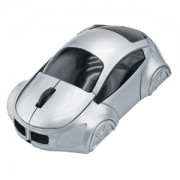 Мышь компьютерная оптическая 'Автомобиль'; серебристый; 10,4х6,4х3,7см; пластик; тампопечать