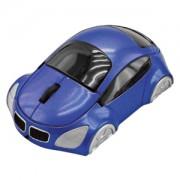 Мышь компьютерная  оптическая 'Автомобиль'; синий; 10,4х6,4х3,7см; пластик; тампопечать