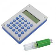 Калькулятор 'Aqua' на энергии воды; 10х15х1,8 см; металл,пластик; лазерная гравировка