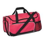 Сумка дорожная 'Sporty'; красный с черным; 52х27х26  см; полиэстер; шелкография