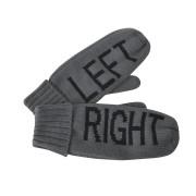 Варежки 'LEFT&RIGHT',  серый, L, акрил/флис внутри,  шеврон