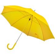 Зонт-трость с пластиковой ручкой, механический; желтый; D=103 см; нейлон; шелкография
