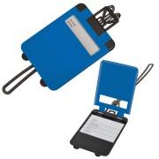 Бирка багажная 'Чемодан';  синий; 5.6*7.8 см; пластик; тампопечать