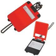 Бирка багажная 'Чемодан';  красный; 5.6*7.8 см; пластик; тампопечать