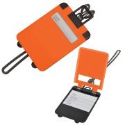 Бирка багажная 'Чемодан';  оранжевый,  5.6*7.8 см; пластик; тампопечать