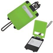 Бирка багажная 'Чемодан';  ярко-зеленый,  5.6*7.8 см; пластик; тампопечать