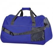 Сумка дорожная 'Traveller'; синий с серым; 55х28х28,5 см; нейлон; шелкография