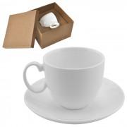 Чайная пара 'Романтика' в подарочной упаковке; 16,5х16,5х11см,210мл; фарфор; деколь