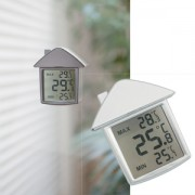 Термометр на присоске 'Дом'; 9х10х2,8 см; пластик; тампопечать