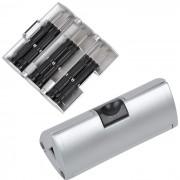 Набор отверток; серебряный; 9,5х4х4 см; пластик, металл; тампопечать