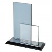 Стела наградная 'Double', 15,5х6х17,6см, стекло