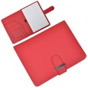Папка А5 с блокнотом 'Classic',красная,17,5х23х1,7см, искусственная кожа