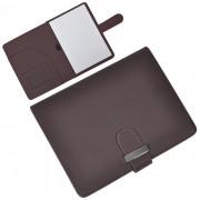 Папка А5 с блокнотом 'Classic',коричневая,17,5х23х1,7см, искусственная кожа