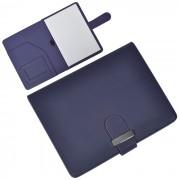 Папка А5  с блокнотом  'Classic',темно-синяя,17,5х23х1,7см, искусственная кожа