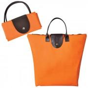 Сумка для шопинга, 'Glam UP' оранжевый, 39х29х7, Полиэстер 600D, иск кожа,