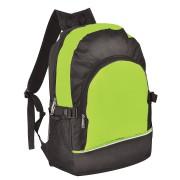 Рюкзак. зелёный с чёрным, 30х42х13, Полиэстер 600D+1680D, шелкография