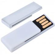 USB flash-карта 'Clip' (8Гб),белая,3,8х1,2х0,5см,пластик