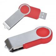 USB flash-карта 'Swing' (8Гб),красная,6х2,3х1см,металл,пластик