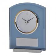 Часы настольные 'AWARD' ; 13.7 x 4.8 x 17.9 см, шильд 6х3,4 см; стекло, алюминий