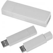 USB flash-карта 'Twist' (8Гб),белая, 6х1,7х1см,пластик