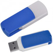 USB flash-карта 'Easy' (8Гб),белая с синим, 5,7х1,9х1см,пластик